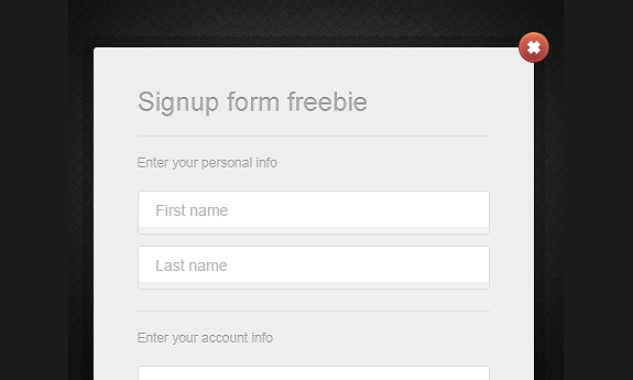Web Form Design PSD Templates 10 25 Web Form Design PSD Templates