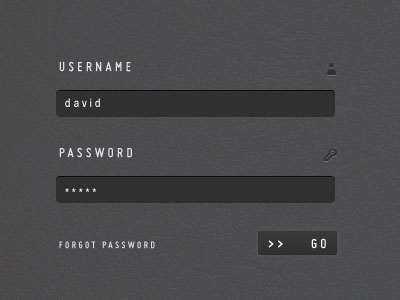 A Clean & Stylish Login Form (PSD)