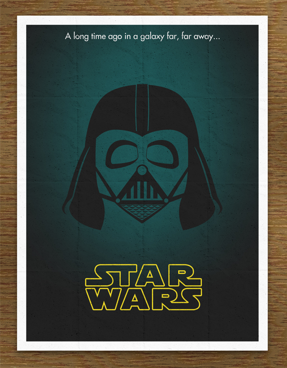 Minimal Star Wars Movie Poster