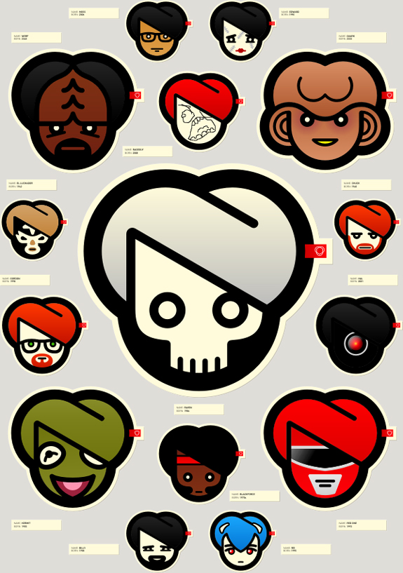 Characters Sticker Design