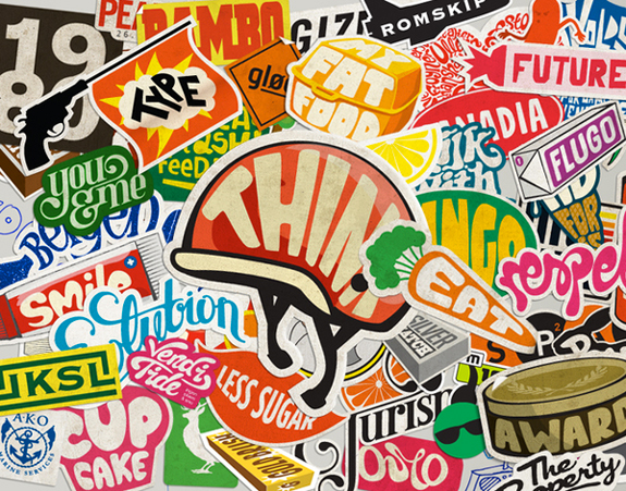 Sticker Typography