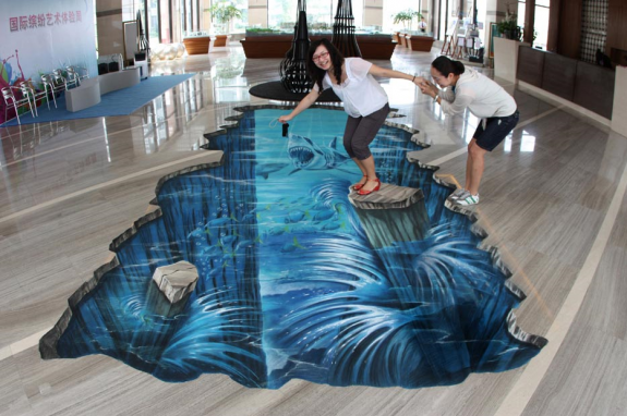 40 awesome 3d street art paintings browse ideas for Floor 3d painting