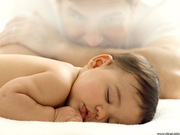 innocent baby boy sleeping 575x431 Beautiful and Cute Baby Photos