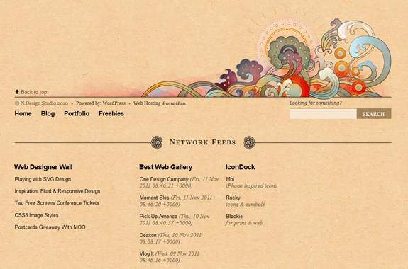 N.Design Studio Footer Design