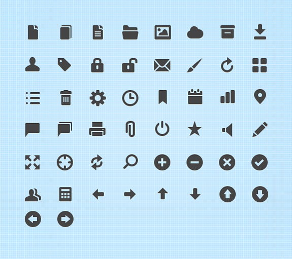 Free Symbols and Mini Web Icons 01 65+ Free Mini