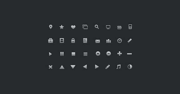 16px Glyph Icons