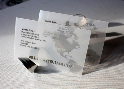 Transparent Business Card Design Ideas