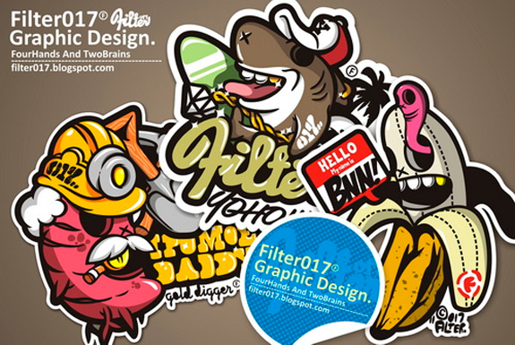 Cool sticker design