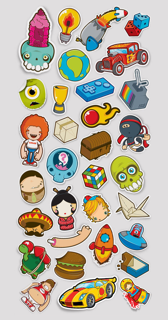 Cool Sticker Design Inspiration | Browse Ideas - Part ...