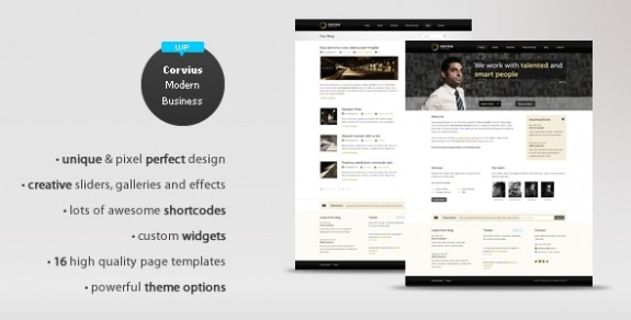 corporate wordpress themes 01 575x292 50+ Free and Premium Corporate WordPress Themes