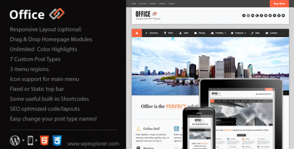 corporate wordpress themes 13 575x292 50+ Free and Premium Corporate WordPress Themes