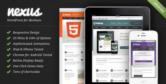 corporate wordpress themes 30 575x292 50+ Free and Premium Corporate WordPress Themes