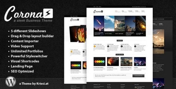 corporate wordpress themes 32 575x292 50+ Free and Premium Corporate WordPress Themes