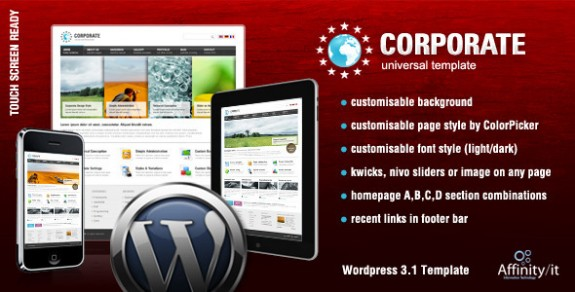 corporate wordpress themes 39 575x292 50+ Free and Premium Corporate WordPress Themes