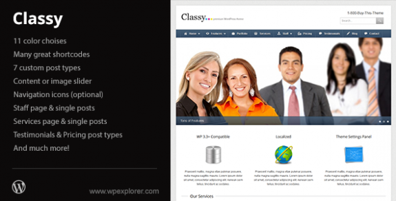 corporate wordpress themes 40 575x292 50+ Free and Premium Corporate WordPress Themes