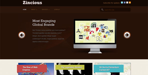 free corporate wordpress themes 03 50+ Free and Premium Corporate WordPress Themes