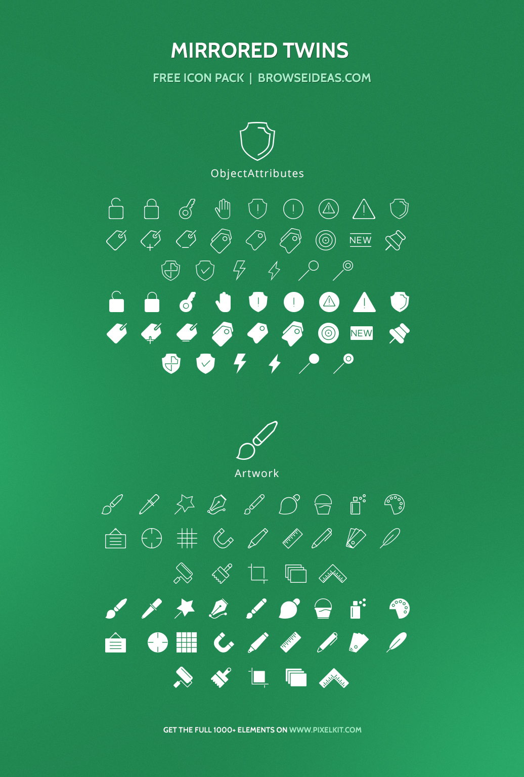 Mirrored Twins Icons Set